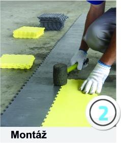 technické specifikace plastových podlah instalace 2. krok