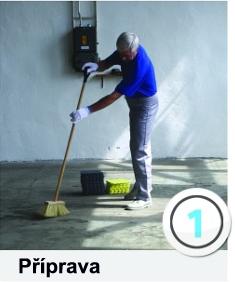 technické specifikace plastových podlah instalace 1. krok